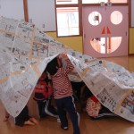 新聞紙遊び