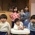 1月は5人のお友達が、また1つお兄さん・お姉さんになりました。
