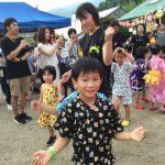 盆踊りの「きのこ音頭」です。元気良く踊ることができました。