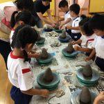 いよいよ陶芸の開始です。