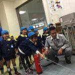 教えて頂いた方法で、初期消火訓練を行いました。素早く消火することができました。