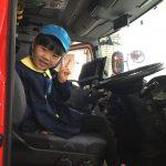 消防車に乗せてもらいました。
