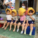 乳児クラスのお友だちも「がんばれー」と応援していました。